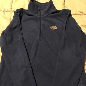 Boys north face fleece half zip pullover